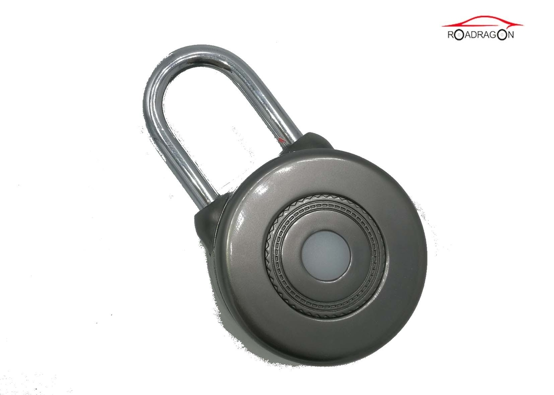 Black Zinc Alloy Remote Control Padlock , Cloud Storage GSM Padlock Embedded System